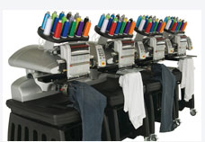Our state of the art Amaya XTS embroidery machines